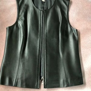 Leather Vest with Zipper